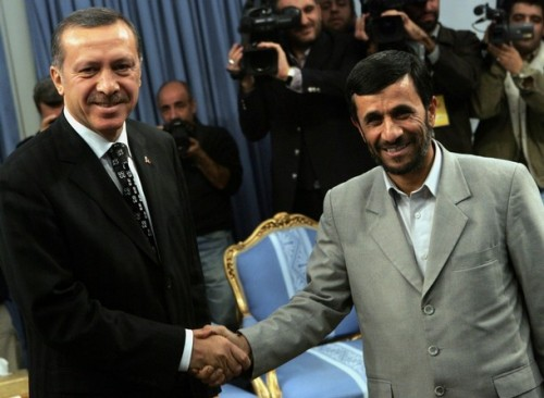 Kissing-up: Erdogan & Ahmadinejad