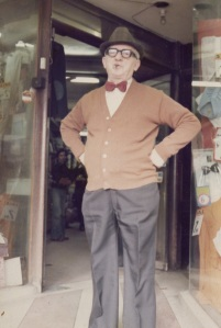 "Grandpa, outside ""the shop"""