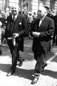 Woody's Oxford chums, Ted Heath & Harold Wilson
