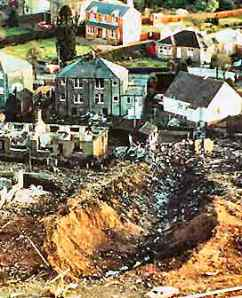 Crater at Sherwood Crescent, Lockerbie