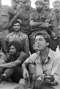 Leonard Cohen performing for Israeli troops (Suez Canal, 1973)