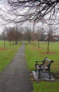 The diagonal path, Hendon Park